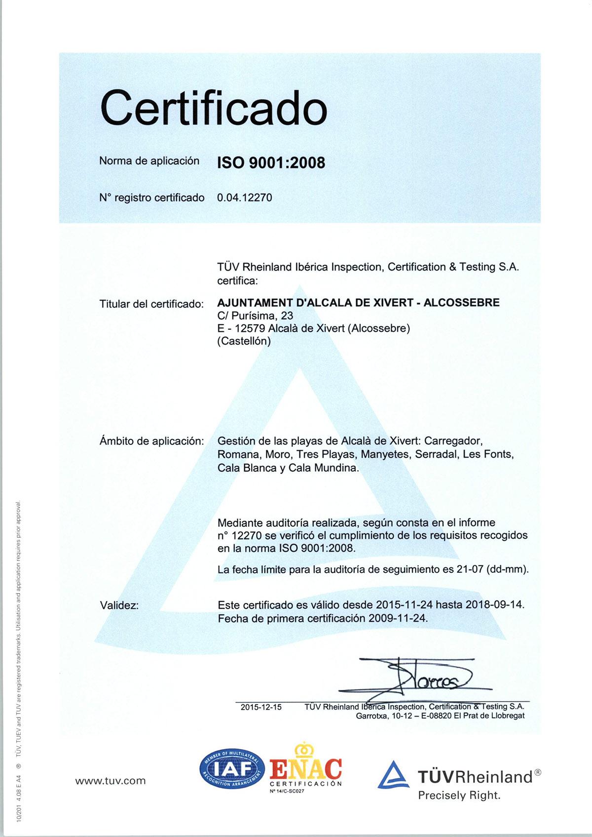 alcossebre-turismo_certificado_playas_alcossebre-iso-9001