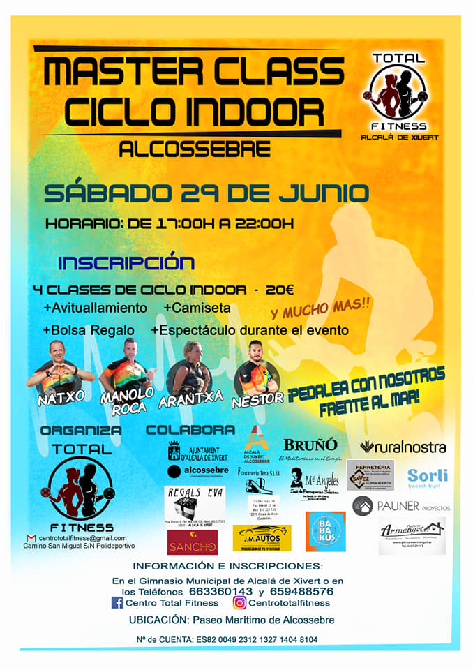 Masteclass Ciclo Indoor Alcossebre