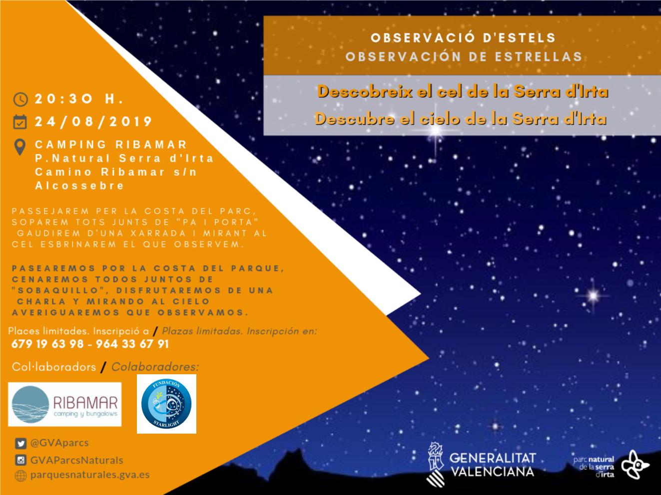 Observació d'estels 24 AGOST_IRTA