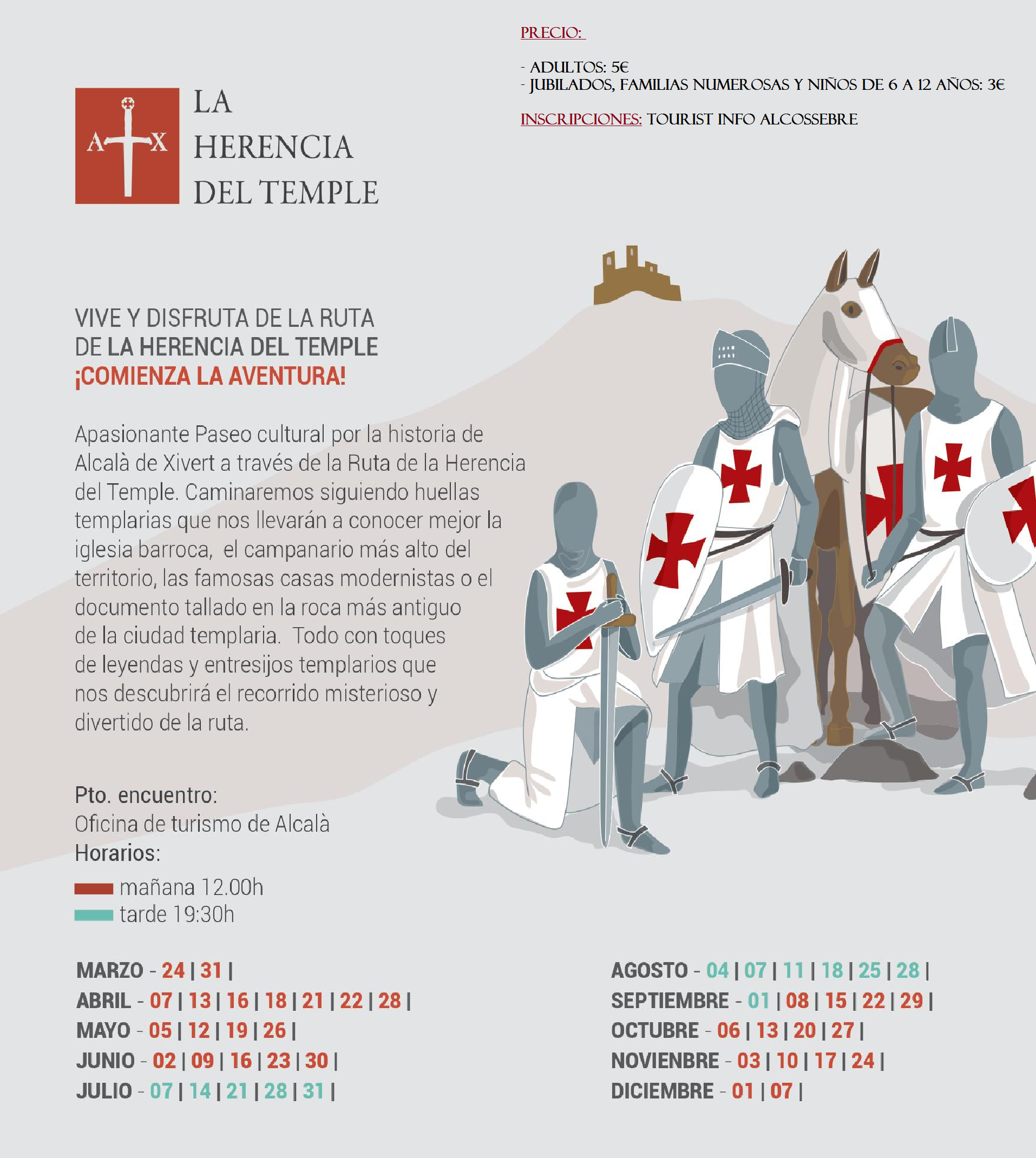 RUTA LA HERENCIA DEL TEMPLE