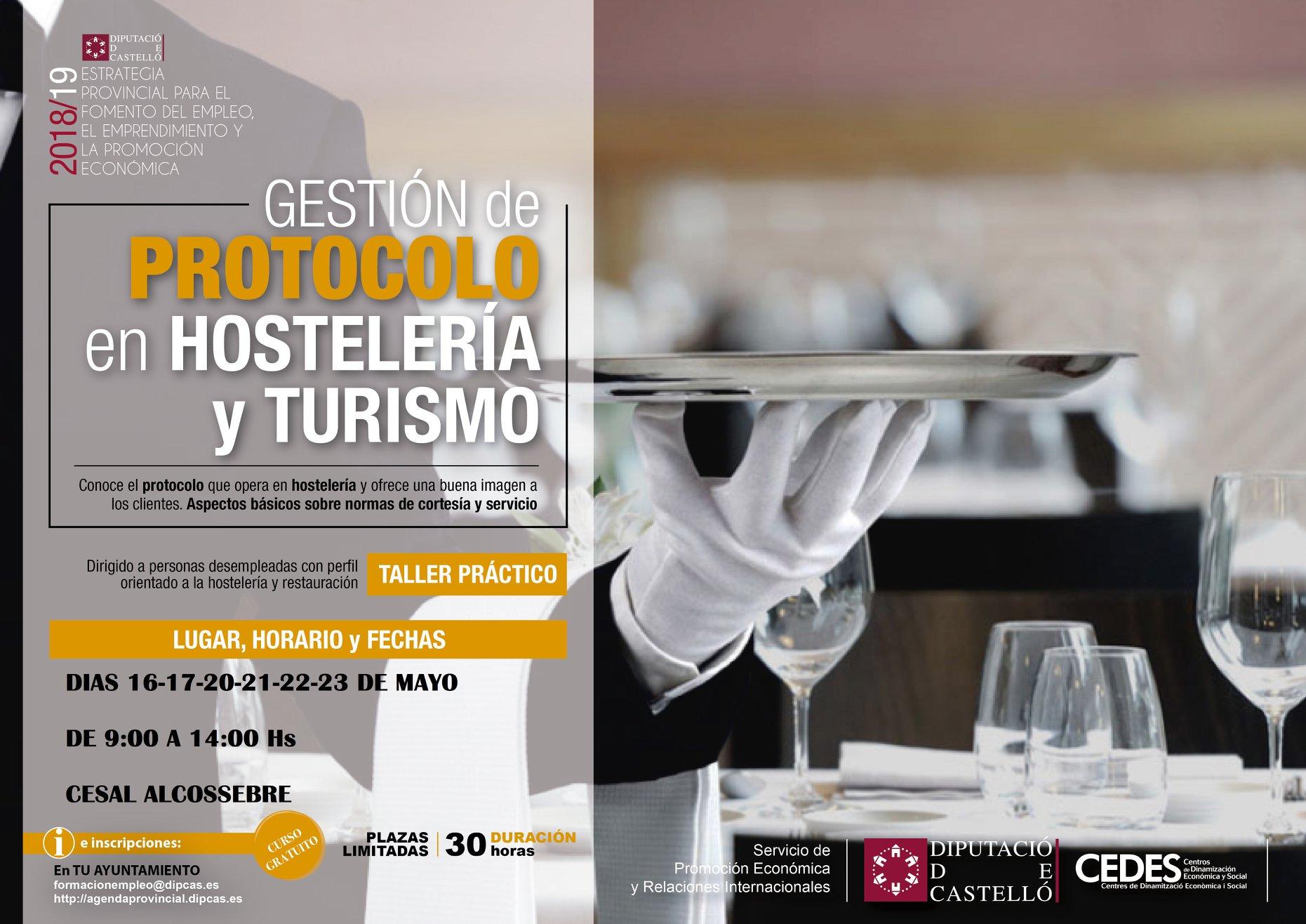 Taller Gestión de Protocolo en Hosteleria y Turismo