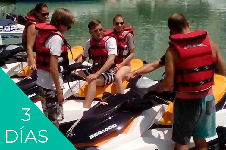 Reserva Alcossebre Paquete Experiencia motos de agua de 3 días con alojamiento